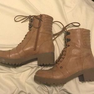 Tan Combat Boots by Guess